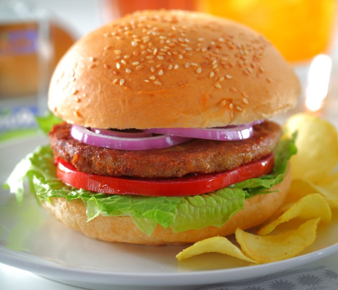 همبرگر گوشت قرمز 30% بون آدو