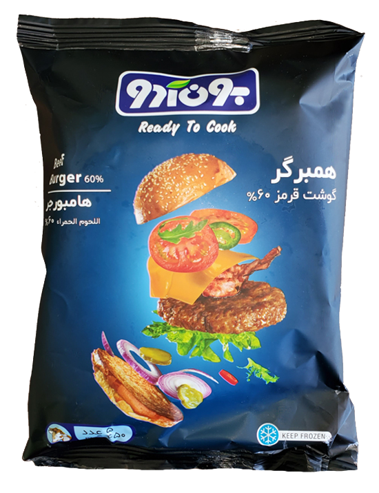 همبرگر گوشت قرمز 60% بون آدو