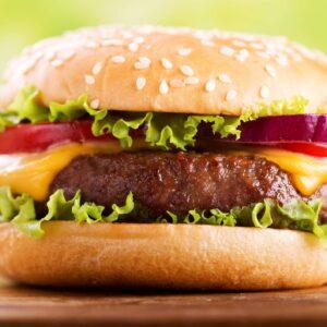 همبرگر گوشت قرمز 90%