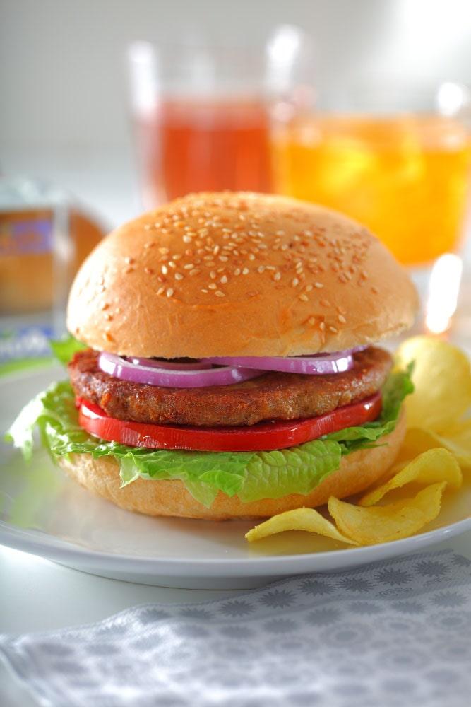 همبرگر گوشت قرمز 60% - خرید اینترنتی همبرگر آماده