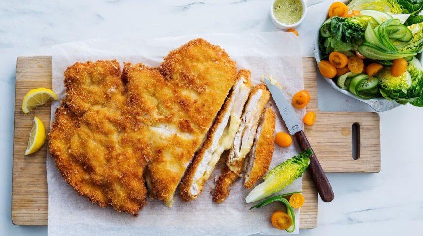 شنیسل مرغ با چی بخوریم