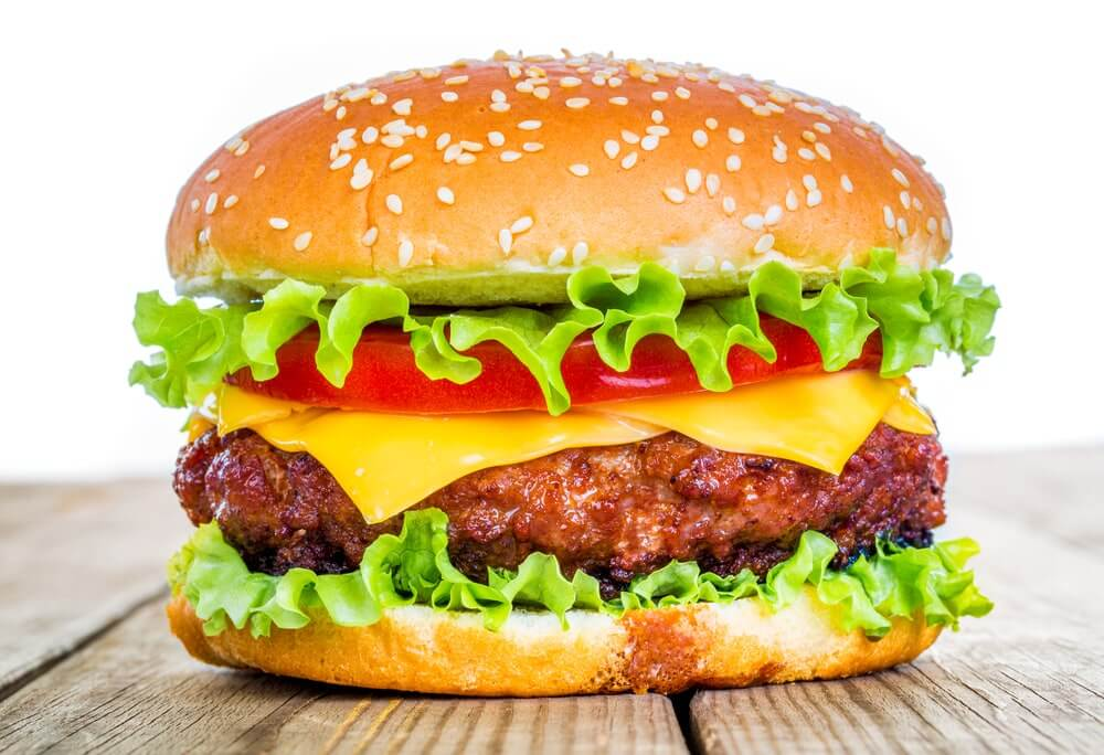 همبرگر گوشت قرمز 60%